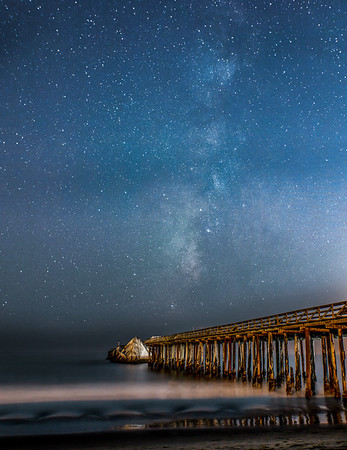Milky Way over Cement Ship