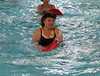 HOLLY PELCZYNSKI - BENNINGTON BANNER Peggy Hanson of Arlington uses a kickboard while exercising on Friday morning during an aqua fit class held at the Bennington Rec Center.