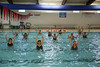 HOLLY PELCZYNSKI - BENNINGTON BANNER seniors dance in the water on Friday morning during an aqua fit class held at the Bennington Rec Center.