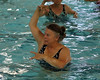 HOLLY PELCZYNSKI - BENNINGTON BANNER Marie Watson of Shaftsbury joins in on some dancing on Friday morning during Aqua Fit class at the Bennington Rec Center.