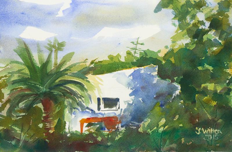Haus mit Palme