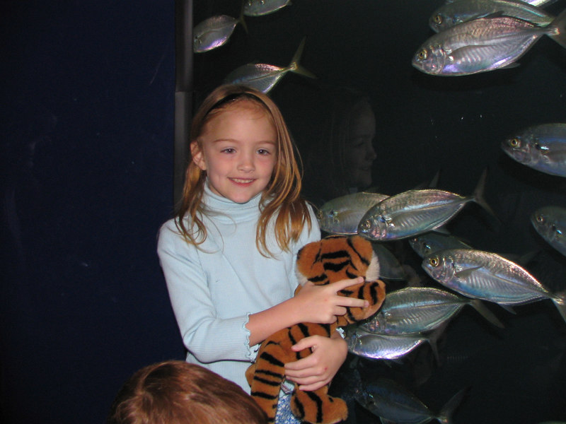 Caroline with the lots of fish!