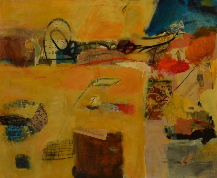 "Tensor-Alan, 52""hx64""w painting on canvas (AEDJC17-11-26)"