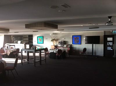 grote vergaderruimte met 2 metallic doeken Green en Duckride