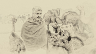 Portrait of a Camel Trader