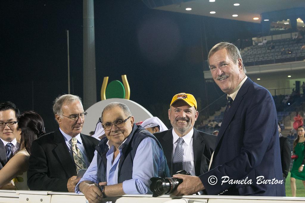 Steve Burton, reporter Gizouli, Ross Peddicord and Paul Smoke