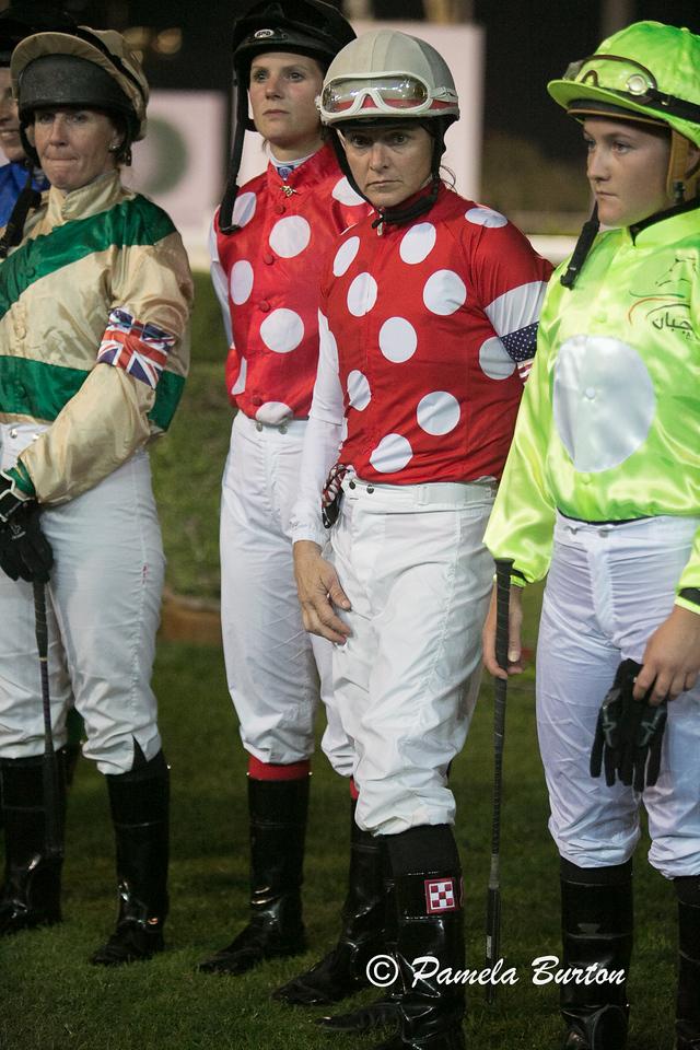 USA Lady jockey Sandee Martin finished third