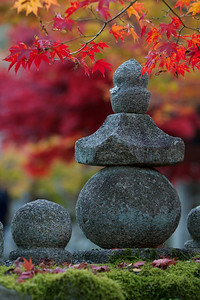 Stone Lanterns at Adashino Nenbutsu-ji Temple