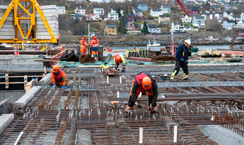 Oktober 2012: Bygging av lasteanlegg til Northland Ressourses på Fagernes.