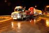 Transport av rørelementer til vindmøllene på Skitdalshøgda. Spesialtransport, her gjennom Bjerkvik.