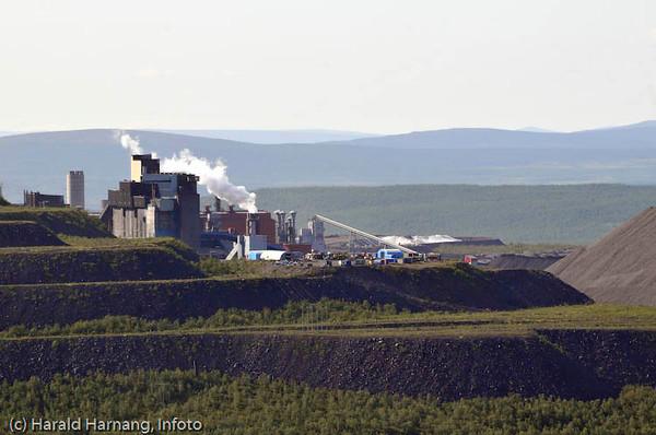 LKABs pelletsverk i Kiruna.