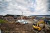 Nordkraft AS i Narvik utvider adm-bygget gjennom nybygg rett nedenfor. Foto 9. okt 2012.