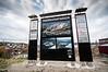 Informasjonstavle vd Teknologipaken i Narvik, med oversikt over bedrifter.  Foto 9. okt 2012.