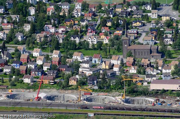 Bygging av SILA, silo og lager, for LKAB. Det største byggeprosjektet i Nord-Norge etter Melkøyautbyggingen i Hammerfest.