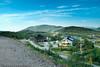 Riksgrensen, Lapplandia. På svensk side. Husene her tilhørte tidligere fjellfotograf Sven Hörnell. Disse er nå i privat eie. Galleri og slides-show-rom (hus til venstre) er nå supermarked.