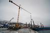 Lørdag 11. februar 2012: Fagernes, utbygging av malmskipningskai for Northland Ressourses. Utbygger: PEAB. Northland Resourses shipping facilities in Narvik under construction.