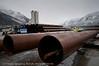 Lørdag 11. februar 2012: Fagernes, utbygging av malmskipningskai for Northland Ressourses. Utbygger: PEAB.<br /> Northland Resourses shipping facilities in Narvik under construction.