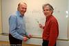 Dyktige matematikere ved Høgskolen i Narvik (HiN), fikk publisert vitenskapelig artikkel om banebrytende funn: Riccatiligningen. Professorene Lars Petter Lystad (t.v.) og Per-Ole Nyman.