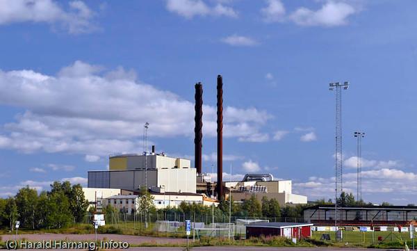 Fjernvarmeverk i Kiruna.