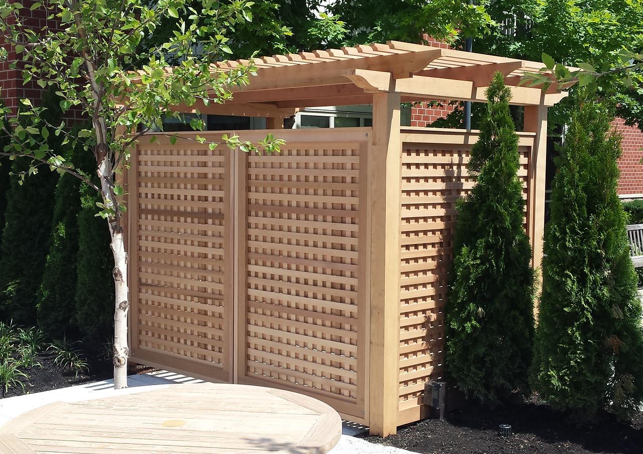 968 - MA - Custom Red Cedar Arbor & Gate