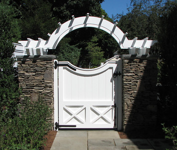 177 - 345942 - New Canaan CT - Custom Gate & Arbor
