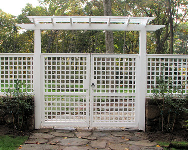 177 - 348939 - New Canaan CT - Custom Lattice Gate & Arbor