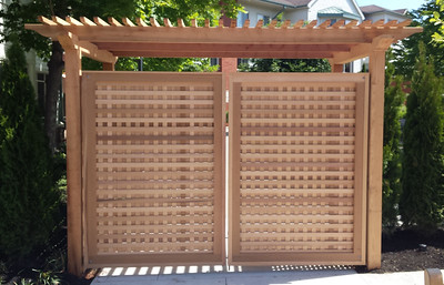 968 - MA - Custom Red Cedar Arbor & Gate