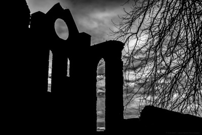 A Silhouette of Abroath Abbey