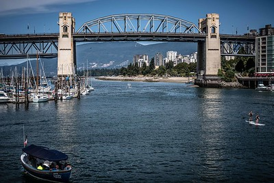 Burrard Street Bridge looking towards English Bay