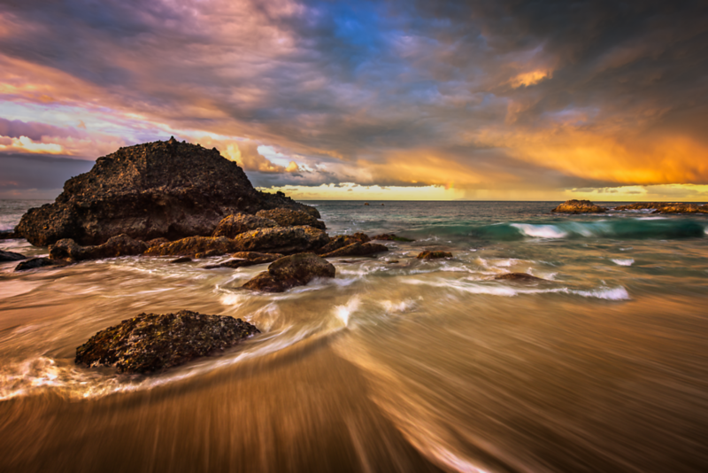 Sunrise Thunderstorm at the Beach