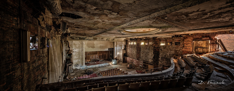 Broadway Theater Auditorium from Balcony - Panorama