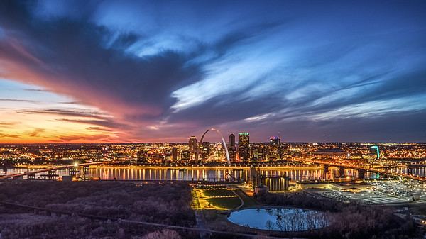 Downtown St. Louis at Sunset