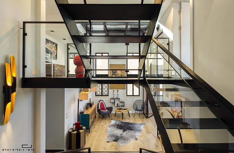 דירה באזור המרכז. אדריכלות: ציון גיל