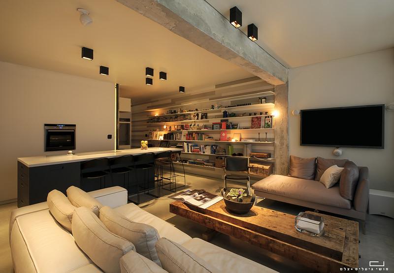 דירה במרכז. עיצוב פנים: וי-סטודיו אדריכלים