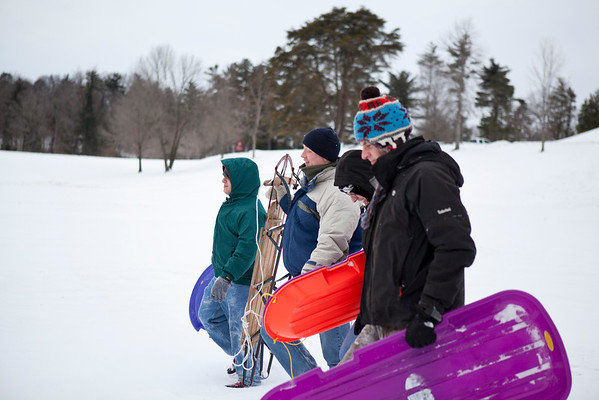 Junior Monks Sledding 2015