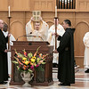 Mass is celebrated in the Archabbey Church on March 21, 2019, the Feast of St. Benedict.