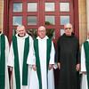 Jubilee on July 31, 2016. From left, Fr. Timothy Sweeney, OSB, Fr. Denis Quinkert, OSB, Fr. Lambert Reilly, OSB, Br. Andrew Zimmerman, OSB, and Fr. Meinrad Brune, OSB.