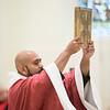 Abbot Primate Gregory Polan, OSB, presides at Mass on Thursday, Sept. 14, the Exaltation of the Holy Cross.