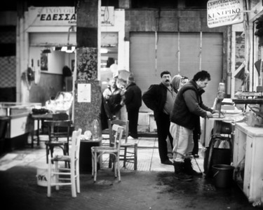 Figure 3 Witness and habitus. Thessaloniki, market, 2006.