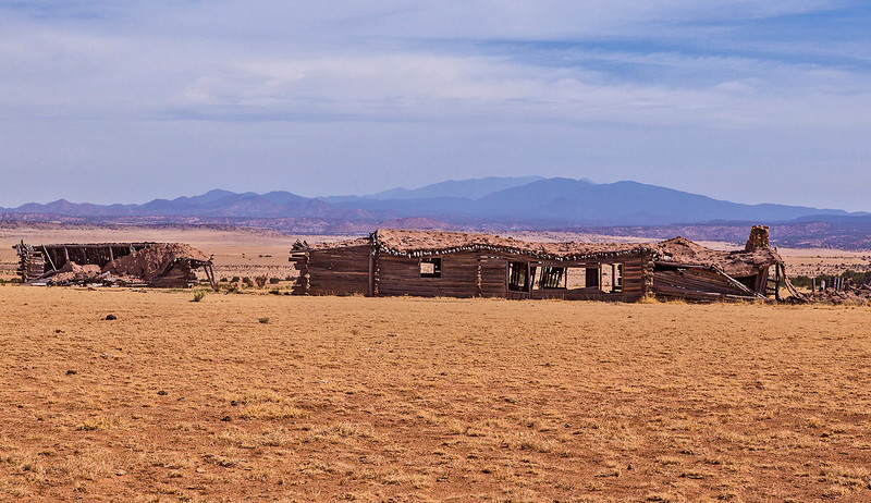 """On the way to the Pueblo Shé site we pass the remains of a set for John Wayne's movie """"Cowboys."""""""