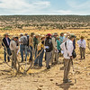 Eric Blinman, Director of the New Mexico Office of Archaeology Studies (second from the right) leading a site tour.