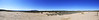 Several photos were taken while standing in one spot and turning clockwise, resulting in this panoramic shot of the Sapawe Pueblo site. South is to the left with North to the right. If you curved this image into a semicircle you'd see how it actually looks.