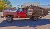A common sight this time of year in New Mexico---a wood cutter's totally overloaded truck.