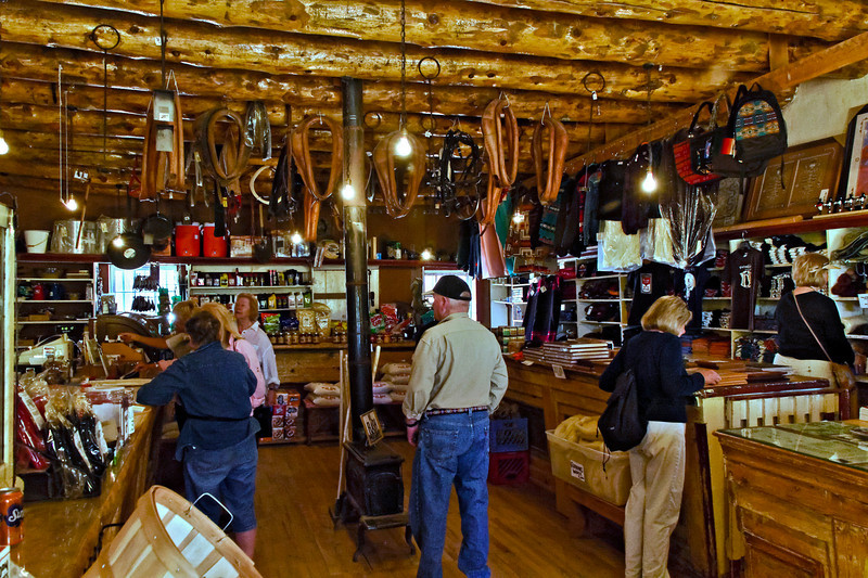 Interior of Hubell Trading Post.