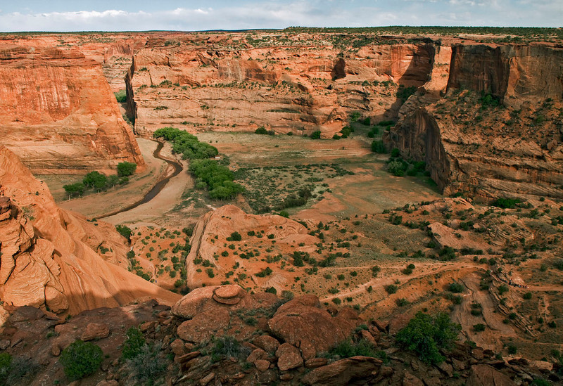 Looking approximately East---Canyon de Chelly from South Rim