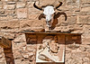 Navajo image on exterior of Hubbell Trading Post, Ganado, AZ.