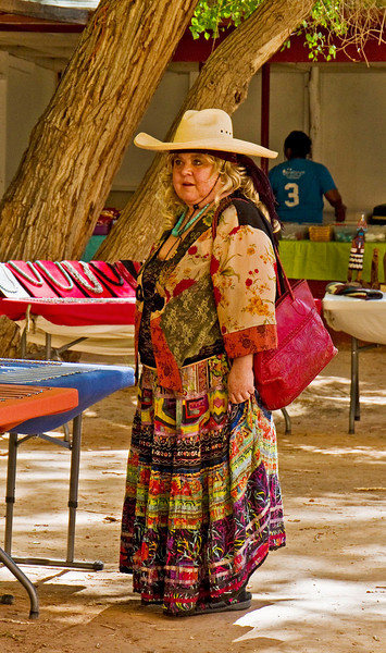 Colorful tourist.