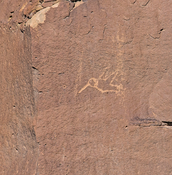 Hummingbird petroglyph in Hummingbird Canyon.