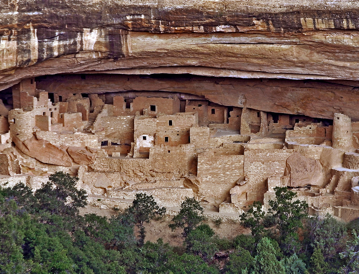 This much restored cliff dwelling, known as Cliff Palace, had more than 150 rooms.