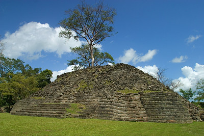 Ruins at the site of Lubaantun in Southern Belize, Toledo.